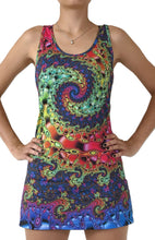 Load image into Gallery viewer, Sublime Tank Girl : Whirlpool Fractal - Women Tops - Space Tribe