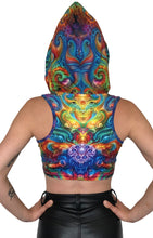 Load image into Gallery viewer, Hooded Crop Top : Holographic Altar