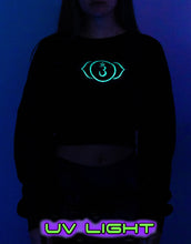 Load image into Gallery viewer, Cropped Sweat : Glow Chakra print - Women Tops - Space Tribe