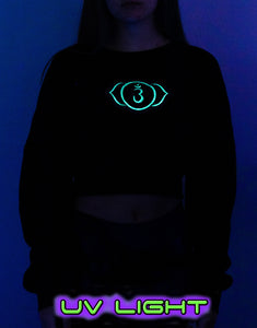 Cropped Sweat : Glow Chakra print - Women Tops - Space Tribe