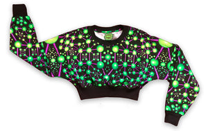 Cropped Sweat : Atomic Alien - Women Tops - Space Tribe