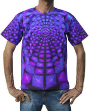 Load image into Gallery viewer, Classic S/S T : Purple Web - Men T-Shirts - Space Tribe
