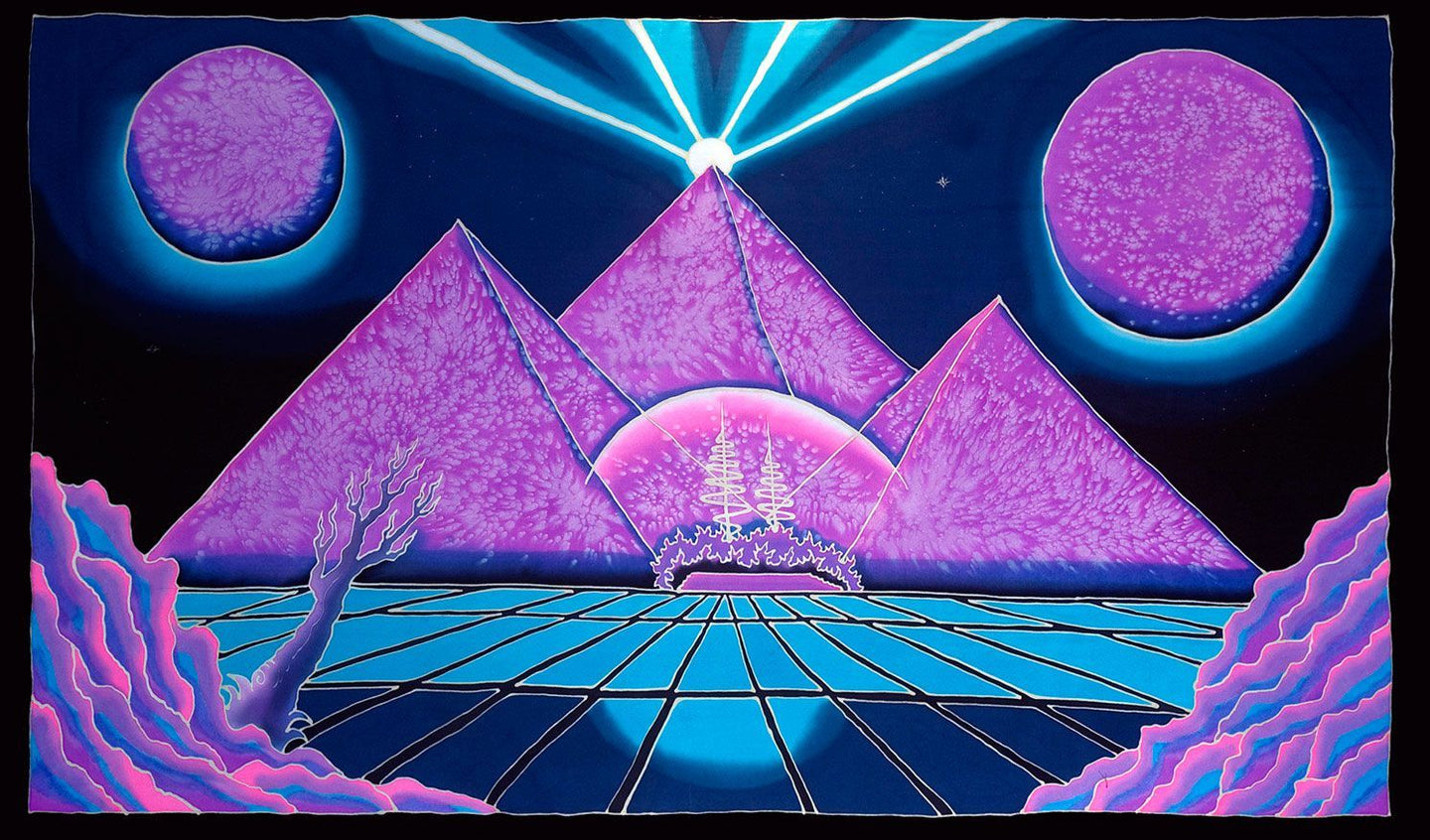 UV Wallhanging : Space Pyramid - UV Wallhangings - Space Tribe