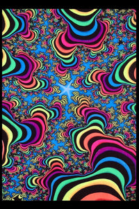 UV Wallhanging : Rainbow Valley Fractal - UV Wallhangings - Space Tribe