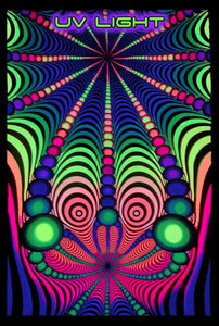 UV Wallhanging : Psyblaster Rainbow - UV Wallhangings - Space Tribe