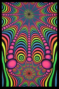 UV Wallhanging : Psyblaster Fractaleyes - UV Wallhangings - Space Tribe