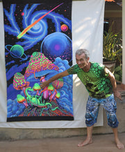 Load image into Gallery viewer, UV Wallhanging : Cosmic Shrooms - UV Wallhangings - Space Tribe