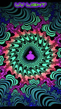 Load image into Gallery viewer, UV Wallhanging : Fractal Sizzler - UV Wallhangings - Space Tribe