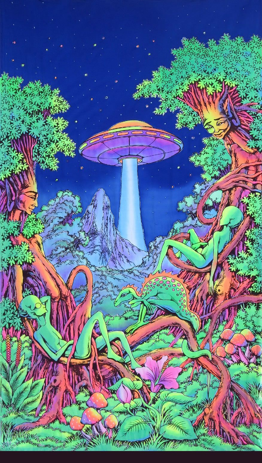 UV Wallhanging : UFO Jungle - UV Wallhangings - Space Tribe