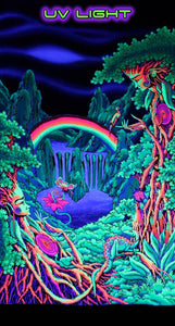 UV Wallhanging : Rainbow Falls - UV Wallhangings - Space Tribe