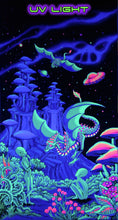 Load image into Gallery viewer, UV Wallhanging : Aliens and Dragons - UV Wallhangings - Space Tribe