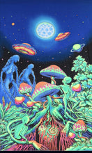 Load image into Gallery viewer, UV Wallhanging : Alien Shrooms - UV Wallhangings - Space Tribe