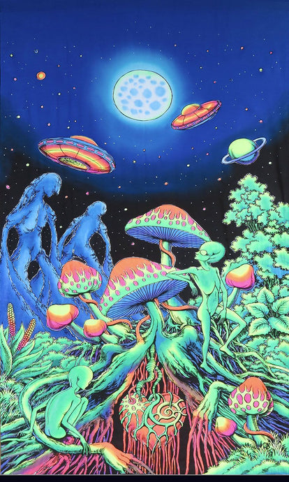 UV Wallhanging : Alien Shrooms - UV Wallhangings - Space Tribe