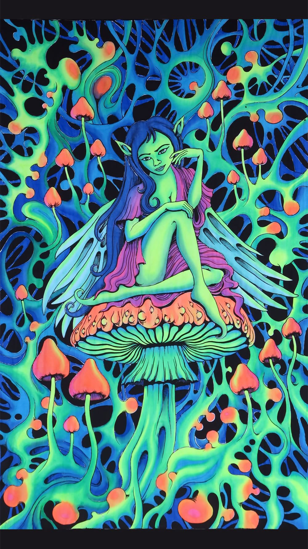 UV Wallhanging : PsyAlaska Fairy - UV Wallhangings - Space Tribe