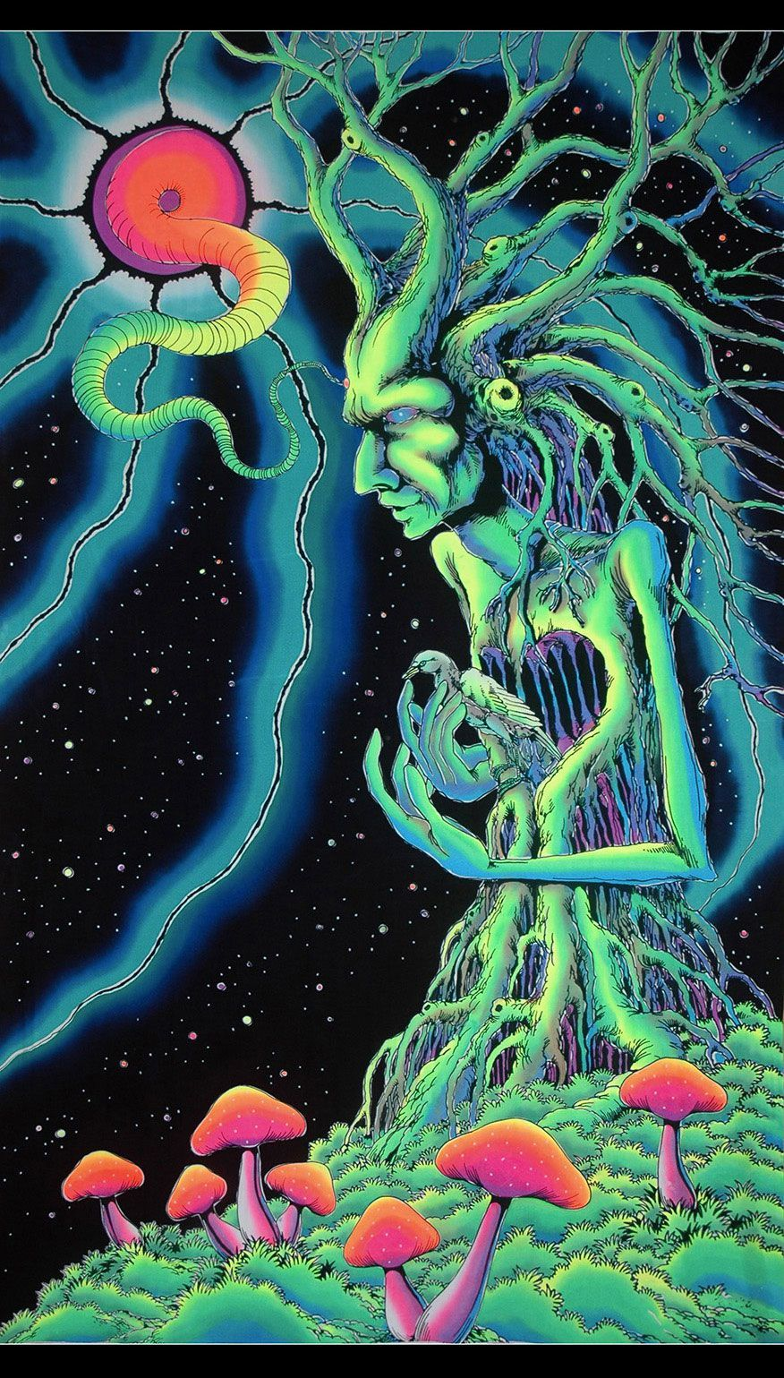 UV Wallhanging : Tree Spirit - UV Wallhangings - Space Tribe