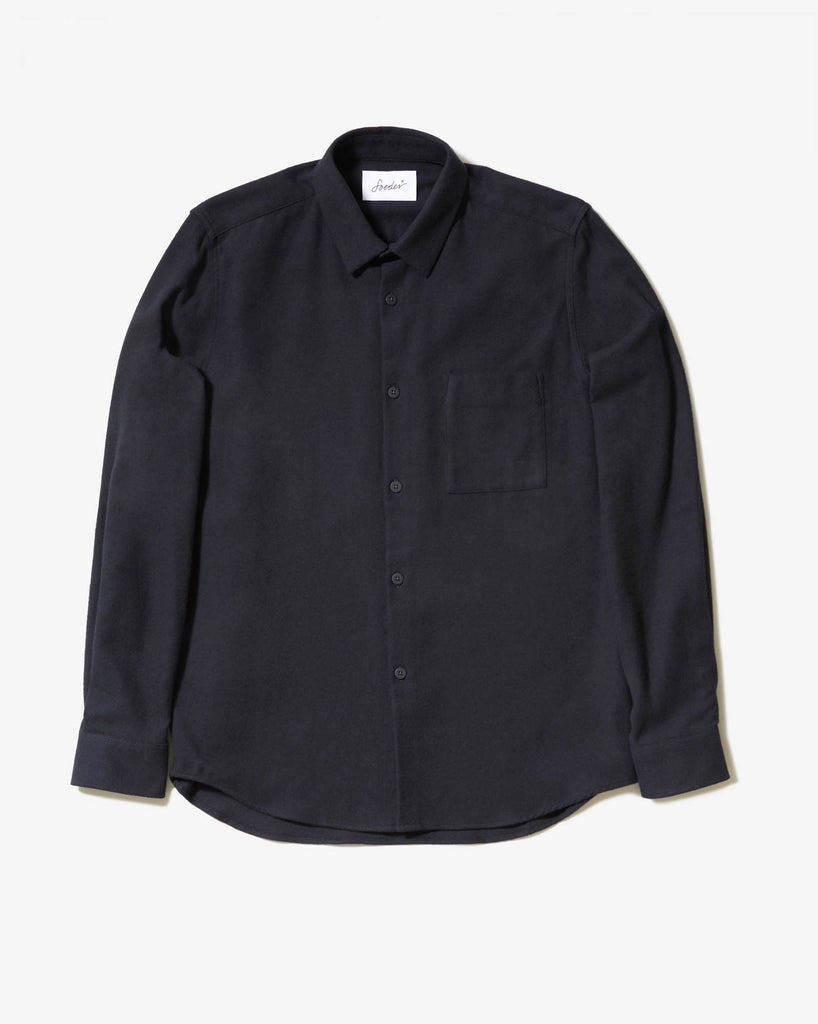 SHIRT 01 BLACK FLANELL