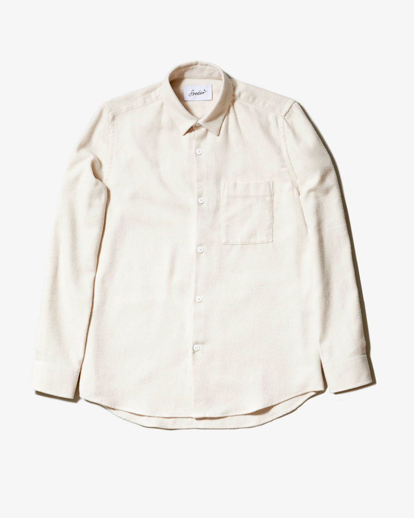 SHIRT 01 NATURAL WHITE FLANELL - Soeder*