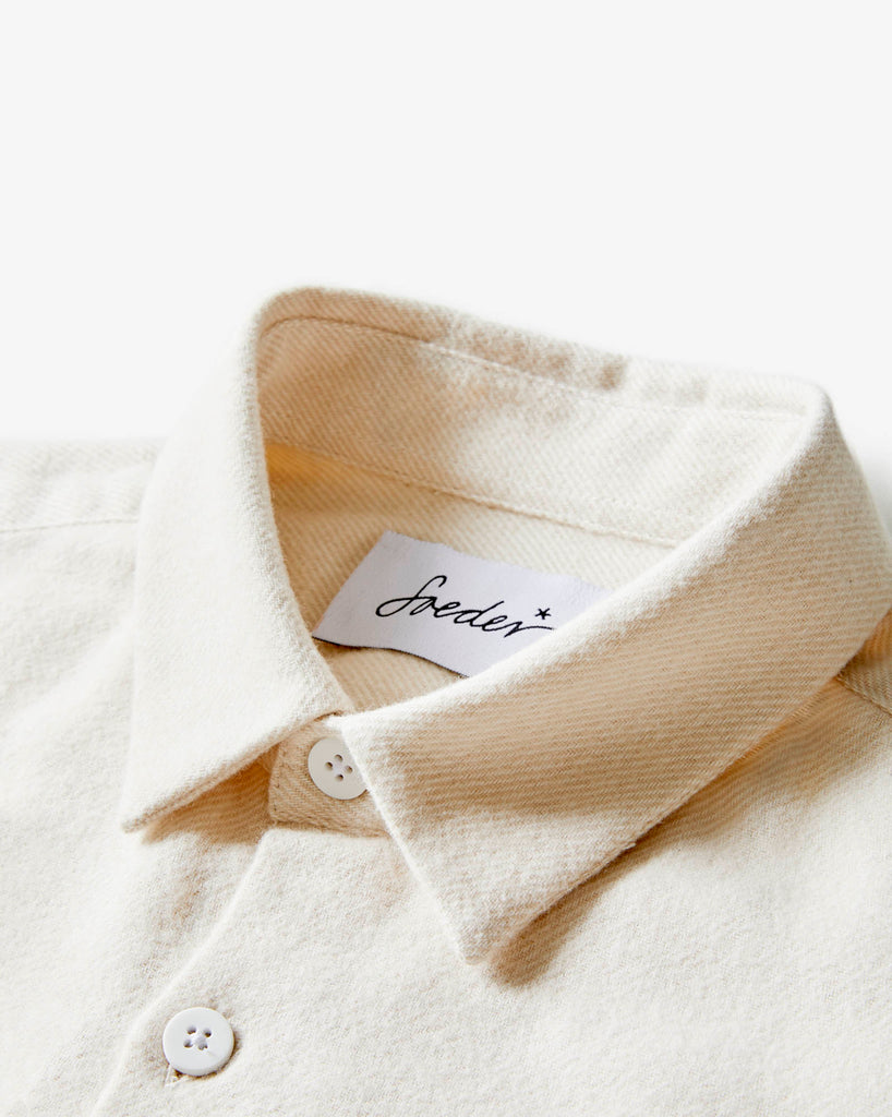 SHIRT 01 NATURAL WHITE FLANELL