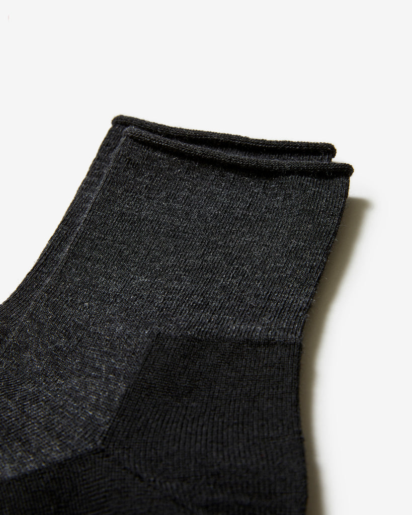 SOCKS 01 BLACK MELANGE