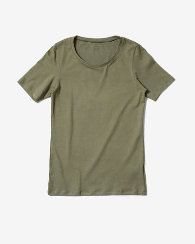 Frauen Basic T-Shirt Oliv*