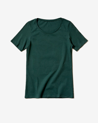 Frauen Basic T-Shirt moos*