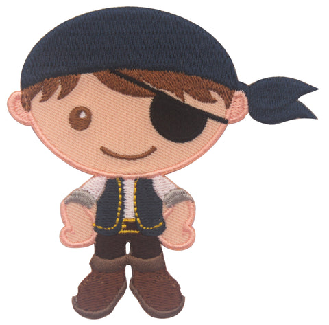 Pirate Iron On Patches and embroidered sew on appliques for kids