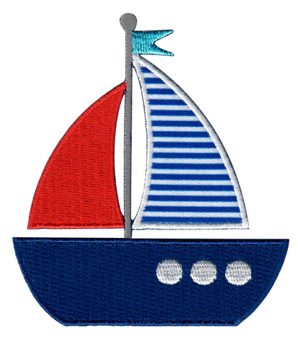 Nautical Iron On Patches and embroidered sew on appliques for kids
