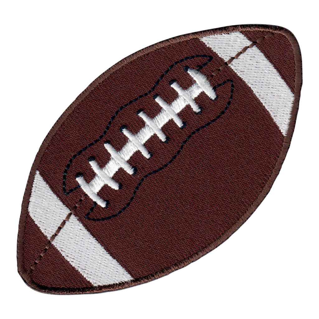 Football Iron On Patch - Embroidered Sports Applique for Kids
