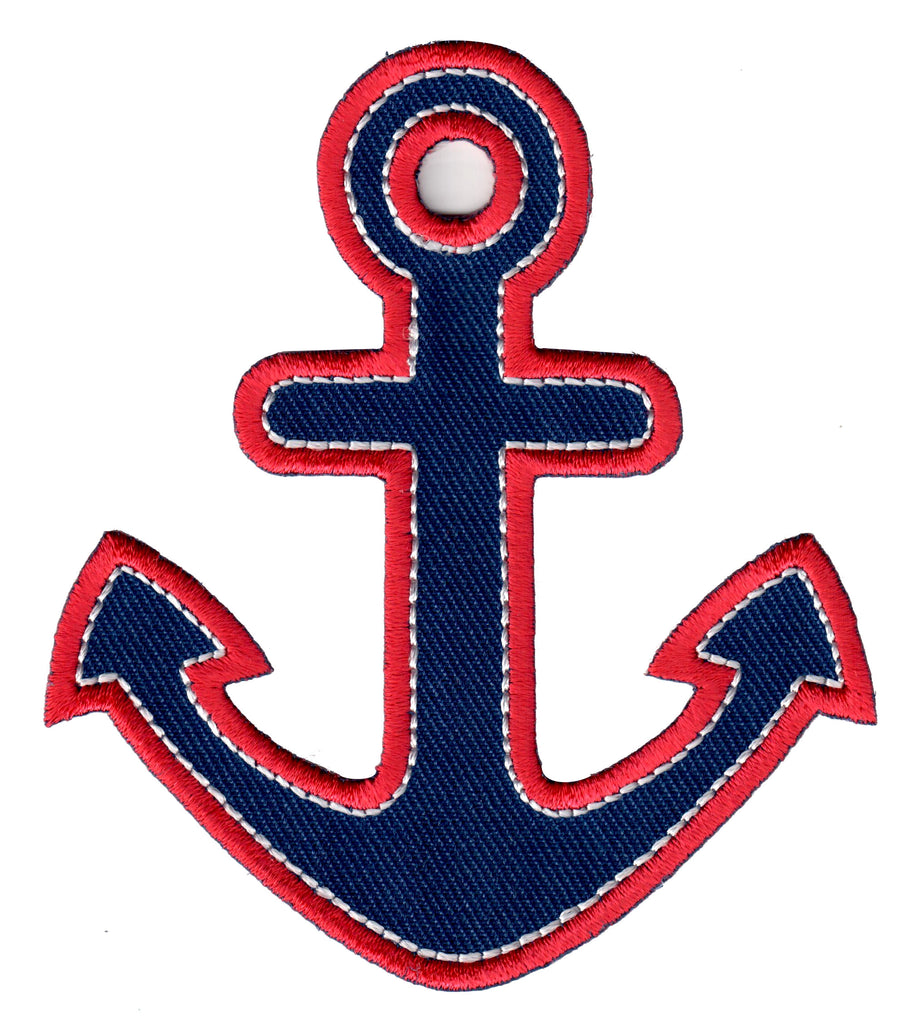 Anchor embroidered iron on patch and sew on applique for kids