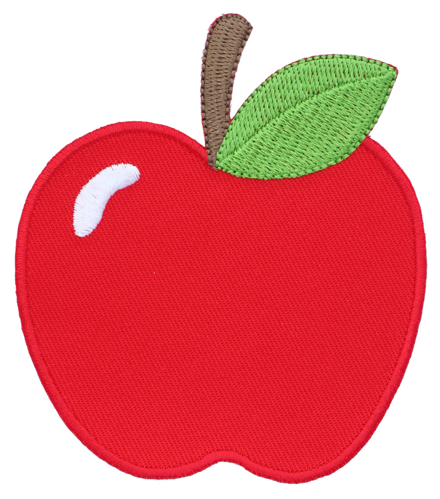apple embroidered iron on patch and sew on applique for kids