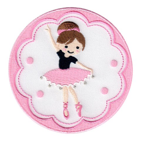 Ballerina Ballet embroidered iron on patch and sew on applique for kids