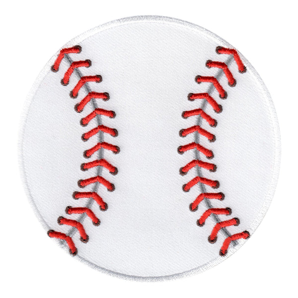 Baseball Iron-On Patch- Embroidered Sew On Appliqué  Sports Ball for Kids