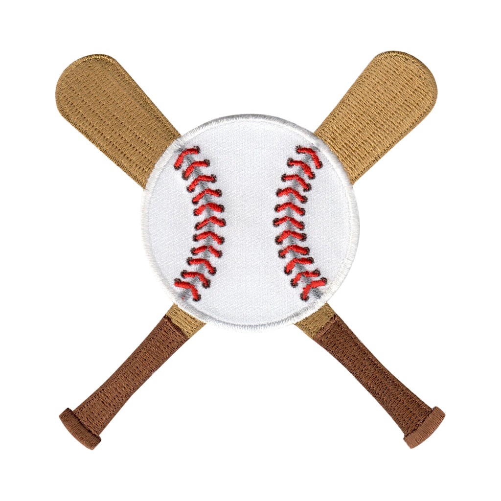 Baseball Iron-On Embroidered Appliqué Patch for Kids Sports