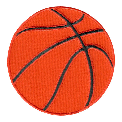 Basketball Iron-On Patch - Embroidered Appliqué for Kids