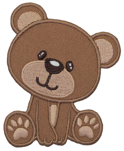 teddy bear embroidered iron on patch and sew on applique for kids