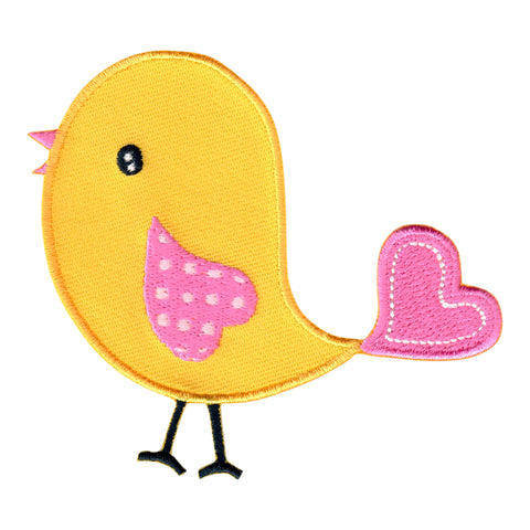 Bird embroidered iron on patch and sew on applique for kids