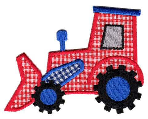 Bulldozer Iron-On Embroidered Appliqué Patch for Kids