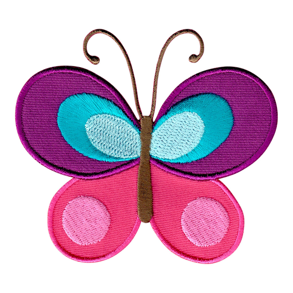Butterfly Iron-On Patch Embroidered Appliqué for Kids
