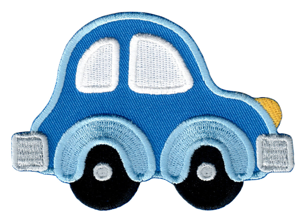 car embroidered iron on patch and sew on applique for kids