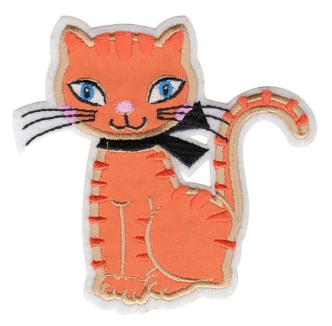 Cat Iron-On Embroidered Appliqué Patch for Kids