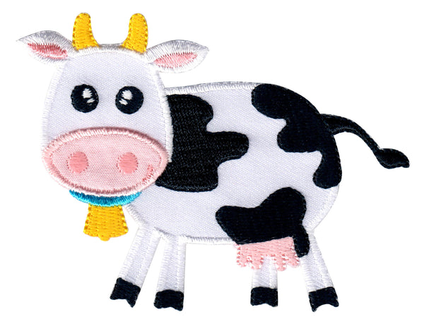cow iron on patch and sew on applique for kids