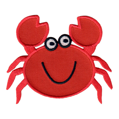 Crab Iron On Patch for Kids Children Sew On Applique