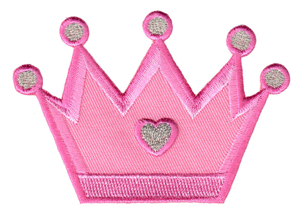 Princess Crown Iron On Patch and Embroidered Sew On Applique for kids