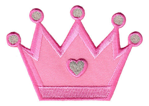 Crown Iron On Patch for Kids Children Sew On Applique