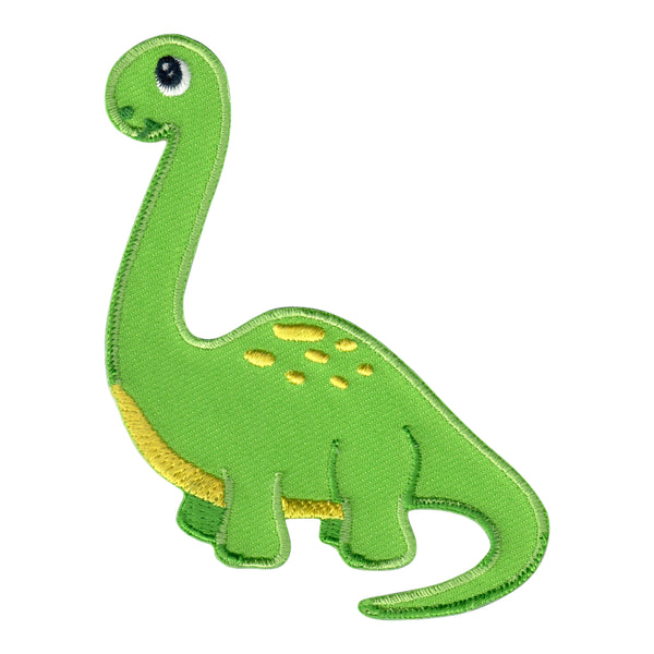 Dinosaur Iron On Patch - Embroidered Sew On Appliqué for Kids