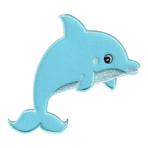 Dolphin Patch Iron On Embroidered Applique for kids children