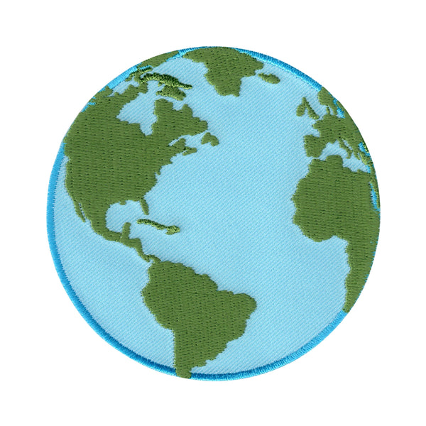 Planet earth patch applique globe