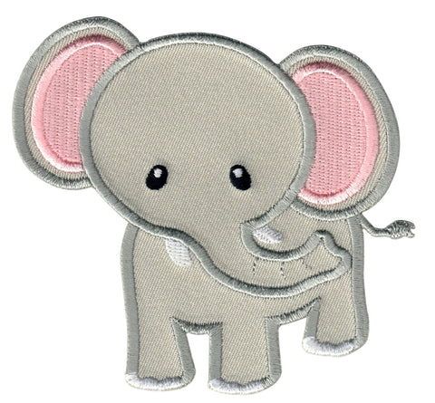 Elephant Iron On Patch for Kids Children Sew On Applique