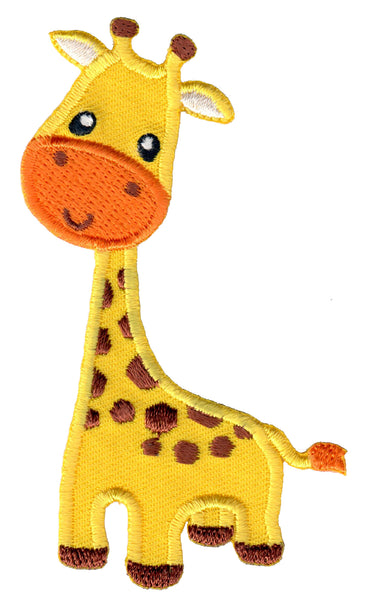 Giraffe iron on patch and embroidered sew on applique for kids