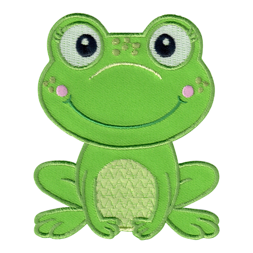 Girl Frog Iron-On Embroidered Appliqué Patch for Kids